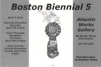 Boston Biennial 5 Postcard (back)