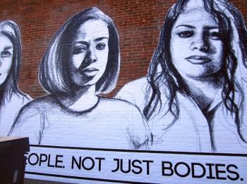 Tatayana Fazlalizadeh's street art in East Boston