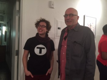 Boston Artist Laura Meilman with Rick Dorff, Atlantic Works Member and Fort Point Channel Artistic Director