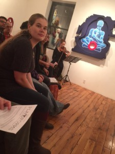 Captivated audience at Atlantic Works Gallery staged reading
