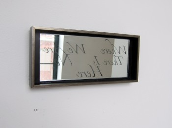 Poem fragment on mirror, by Suzanne Mercury